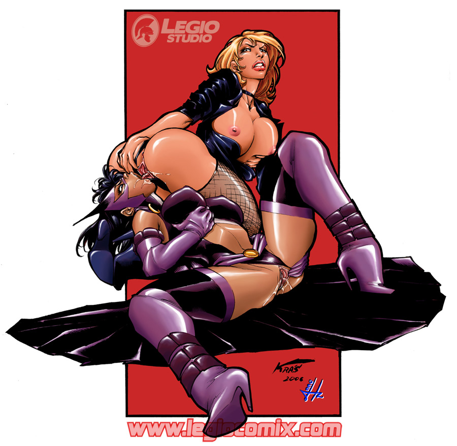 canary and huntress black kiss Ultimate spider-man white tiger