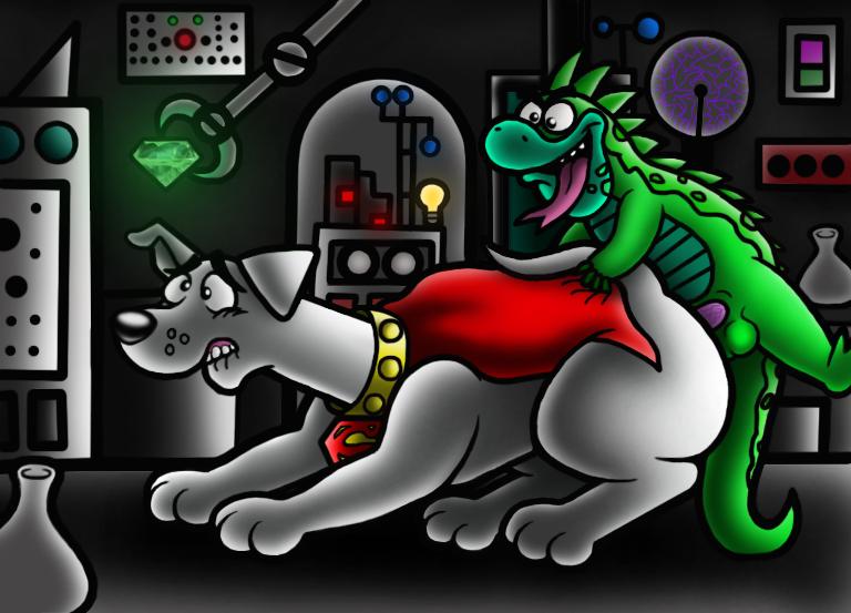 terrier tail krypto superdog the Dragon age inquisition female qunari