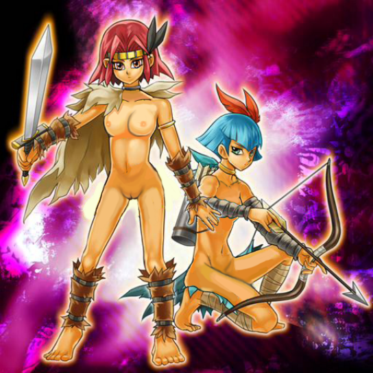 female characters gi oh yu X3 nuzzles pounces on you song