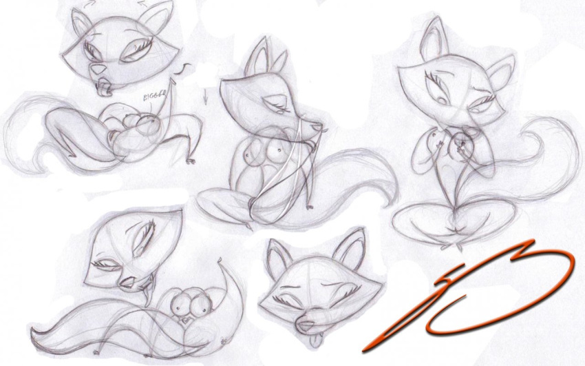 and fu fox skunk rabbit Ass up face down naked