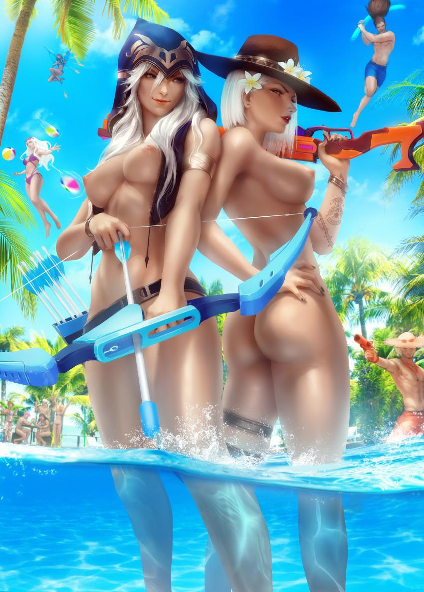 interracial summers party the pool Dark seeker i am legend