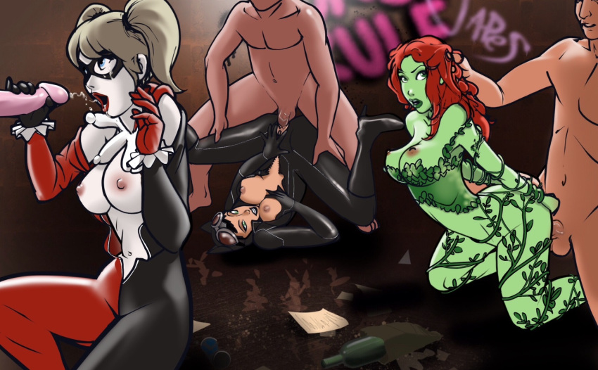 and catwoman quinn sex harley having High school of the dead