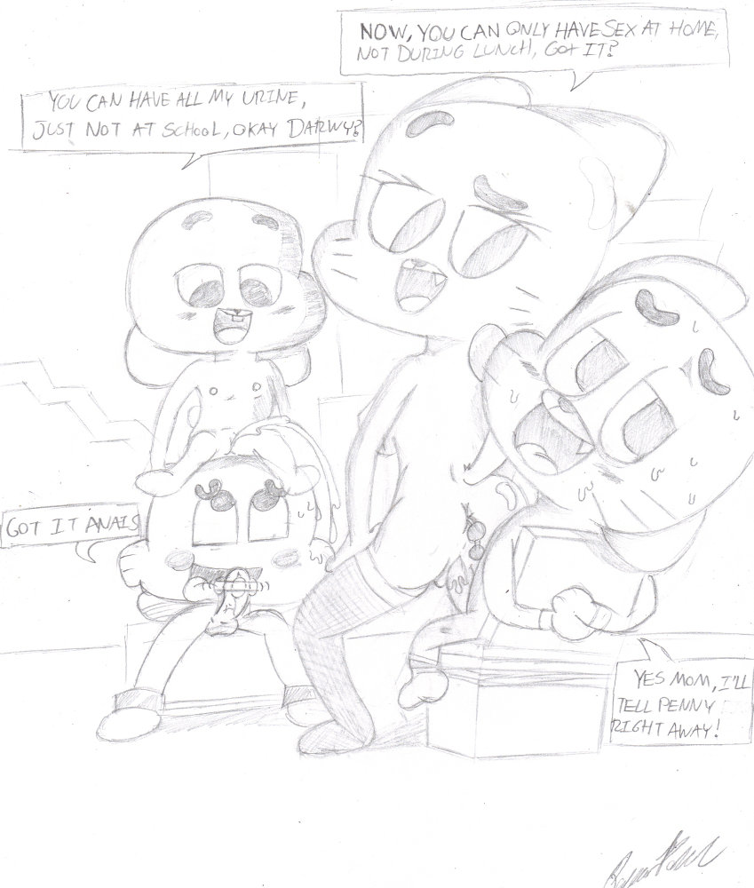 world of gumball louie amazing Conker bad fur day hentai